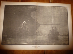 1914 ---> La GUERRE NAVALE (l'occupation De CORFOU ),  Dessin Albert Sébille - Barcos