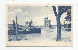 Cp , Bateaux , 17 , LA ROCHELLE , Entrée Du Port , Vierge - Commerce