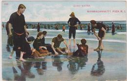 Cpa,états Unis,united States,RHODE ISLAND,NARRAGANSETT PIER,près Washington,quiet Water,plage,1922,rare - Etats-Unis
