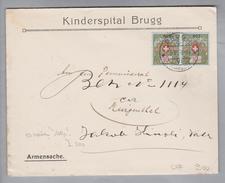 Heimat CH AG Brugg 1926-07-05 Kinderspital Brugg Portofreiheit Gr#607 Nur 75 Stk. 10Rp. Zugeteilt - Suisse
