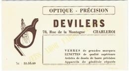 Buvard. Optique Devillers. Charleroi. Rue De La Montagne. - Buvards, Protège-cahiers Illustrés