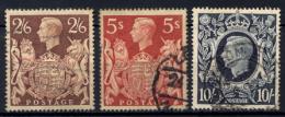 Gran Bretagna 1939 Unif.224/26 O/Used VF/F - 1902-1951 (Kings)