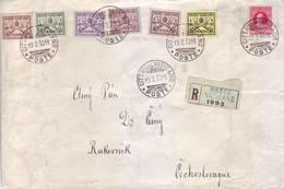 Vaticano 1929 - Storia Postale, Raccomandata Per L'estero, Con 7 Valori Della Serie Conciliazione. - Vaticano