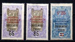 Oubangui   : N° 67 68 & 70  Neuf X MH , Cote : 6,10 € - Ongebruikt