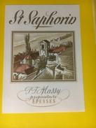 2946 - Suisse Vaud St.Saphorin  JF Massy Epesse - Etiquettes