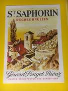 2947 - Suisse Vaud St.Saphorin  Roches Brûlées Gérard Pinget - Etiquettes