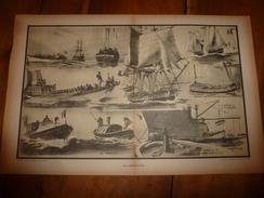 La GUERRE NAVALE ,Les Embarcations (Vapeur,Canot Armé Et Autres Canots,Vedette, Chaloupe, Etc) (dessins Albert Sébille) - Barche