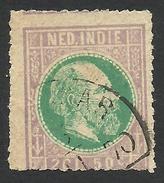 Netherlands Indies, 2 G. 50 C. 1870, Sc # 16, Used - Netherlands Indies
