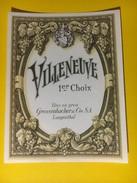 2959 - Suisse Vaud Villeneuve - Etiquettes