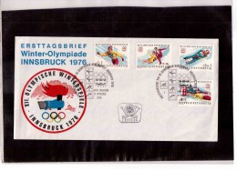 203 -      INNSBRUCK  14.11.1975   /   FDC   XII WINTER-OLYMPIADE 1976
