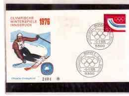 TEM8546      -    BONN  5.1.1976     /   FDC   XII WINTER-OLYMPIADE 1976     -  MICHEL NR. 875