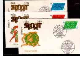 TEM8570   -   BONN  8,.5,80      /     FDC   MICHEL NR. 1046/48 - Francobolli