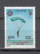 India 1986,1V,Parachute Jumping,parachutespringen,fallschirmspringen,MNH/Postfris(A3029)