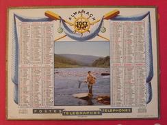 Almanach Des PTT. 1957. Mayenne Laval. Calendrier Poste, Postes Télégraphes.. Pêche Bord De Mer - Big : 1941-60