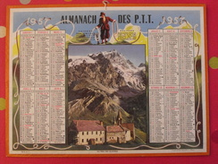 Almanach Des PTT. 1957. Mayenne Laval. Calendrier Poste, Postes Télégraphes.. Montagne Glacier - Calendriers