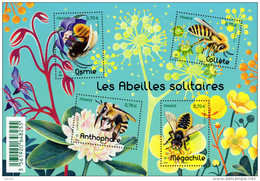 """La Feuille F5052 """"ABEILLES SOLITAIRES"""" Luxe Bas Prix, A SAISIR. - Feuilles Complètes"""