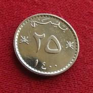 Oman 25 Baisa 1979 - 1980 / 1400 KM# 45a Omã - Oman