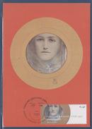 Fernand Khnopff Des Yeux Bruns Et Une Fleur Bleue Carte Postale Gent 17.1.04 Belgique - Maximum Cards