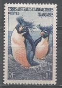 French Southern & Antarctic Territory 1956. Scott #3 (M) Rockhopper Penguins, Crozet Archipelago * - Terres Australes Et Antarctiques Françaises (TAAF)