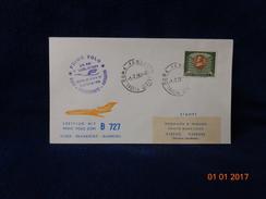 PRIMO VOLO JET BOEING B727 LH331 LUFTHANSA 1964  BUSTA / CARTOLINA COMMEMORATIVA - 1946-....: Moderne