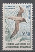 French Southern & Antarctic Territory 1959. Scott #12 (M) Light-mantled Sooty Albatross, Bird * - Terres Australes Et Antarctiques Françaises (TAAF)