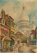 CPA-75-1946-PARIS-SACRE COEUR Et PLACE Du TERTRE-AQUARELLE  Barday-TBE - Sacré Coeur