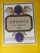 2969 - Suisse Vaud Epesses Dorin Testuz - Etiquettes