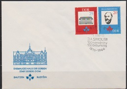 DDR FDC1966 Nr.1165 - 1166  150. Geb. Jan Arnost Smoler ( D 4166 ) - DDR