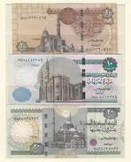 EGYPT UNC 1 - 10 & 20 POUND / POUNDS BANKNOTE SIGN TAREK AMER P50 P64 P65 2016 UNCIRCULATED NOTES - Egipto