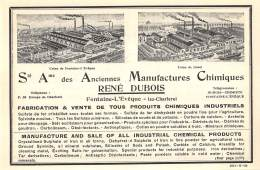 1928 - Fontaine-L'Evêque-lez-Charleroi - S.A. Des Anciennes Manufactures Chimiques - René Dubois - No Postcard ! - Reclame
