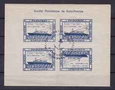 PAQUEBOT NORMANDIE 1935 - Bloc Inaugural Société Philatélique De Saint-Nazaire Oblitéré Du Navire ** (émission Privée) - Bateaux