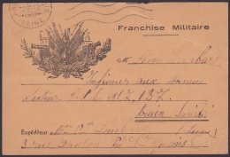 F-EX.3051 FRANCE FRANCIA WWII 1939. ILLUSTRATED SPECIAL MILITAR POSTCARD. FRANCHISE MILITAIRE. - Postmark Collection (Covers)
