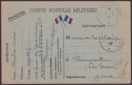 F-EX.3055 FRANCE FRANCIA WWII 1940. ILLUSTRATED SPECIAL MILITAR POSTCARD. FRANCHISE MILITAIRE. BERGERAC. - Postmark Collection (Covers)