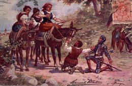 POSTAL DON QUIJOTE DE LA MANCHA. DULCINEA ENCANTADA - Andere Illustrators