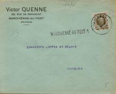 XFE-1076   STATIONSNAAMSTEMPEL    MARCHIENNE AU PONT                Verzonden Via    CHARLEROI
