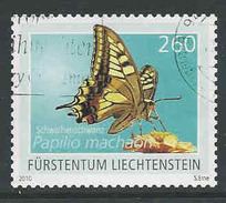 Liechtenstein, Mi 1559  Jaar 2010,  Vlinder -pappilon, Hoge Waarde,   Gestempeld, Zie Scan