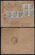 SPAIN-1940-WINE-COMPLETE CIRCULATED COVER SENT FROM JEREZ DE LA FRONTERA-PERFIN- - Non Classés