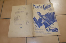Mazurka Ferrero - Partitions Musicales Anciennes