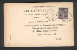 25 - Pontarlier - Congrès International D Aquiculture Et De Pêche De L'Exposition De 1900 - Pesca