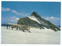Plane Petit Avion Pilatus Porter Sur Le Glacier De Zanfleuron - Suisse - 1946-....: Moderne