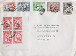 GHANA → Brief Von ACCRA Nach ZÜRICH Anno 1955  ►sehr Schöne Frankatur◄ - Ghana (1957-...)