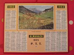 Almanach Des PTT. 1963. Mayenne Laval. Calendrier Poste, Postes Télégraphes.. Paysage Dauphinois - Calendari