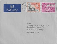 GHANA → Brief Von ACCRA Nach ZÜRICH Anno 1955 - Ghana (1957-...)