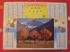 Almanach Des PTT. 1964. Mayenne Laval. Calendrier Poste, Postes Télégraphes.. Automne Sur Le Dru - Calendars