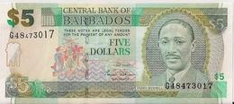 BARBADOS=2007    5  DOLLARS   P-67   UNC - Barbades