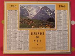 Almanach Des PTT. 1966. Mayenne Laval. Calendrier Poste, Postes Télégraphes.. Jardin Alpin Au Lautaret - Calendars