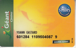 FRANCE - Geant Casino, Magnetic Member Card, Used - Ohne Zuordnung