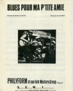 61-80 PARTITION PHILYFORM FOLK WESTERN BLUES POUR MA P'TITE AMIE CLAUSIER ALFERAY 1959 GUITARE PIANO - Jazz