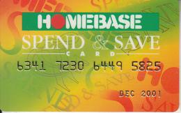 UK - Homebase, Magnetic Member Card, Used - Ohne Zuordnung