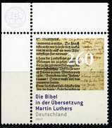BRD - Michel 3277 ECKE LO - ** Postfrisch (B) - 260C  Bibel Martin Luthers - Unused Stamps